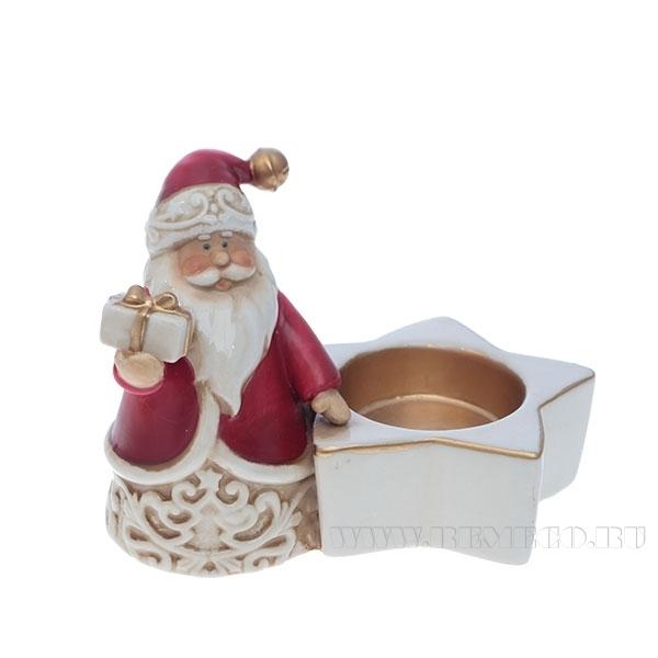 Подсвечник Санта, L11,4 W10,3 H9,5 см оптом