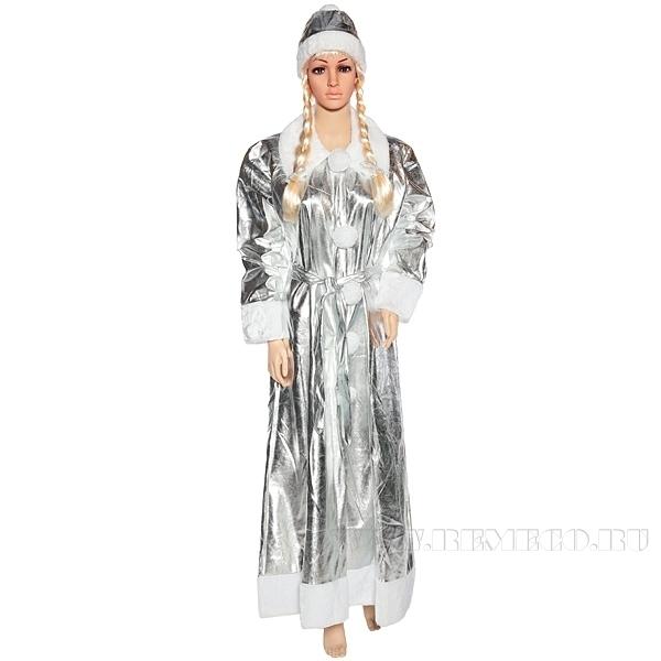 Карнавальное изделие для взрослых Костюм Снегурочки (платье, шапка и пояс)44-50 рост 170см оптом