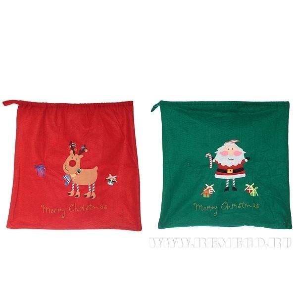 Мешок для подарков, 50 см, 2 в. оптом