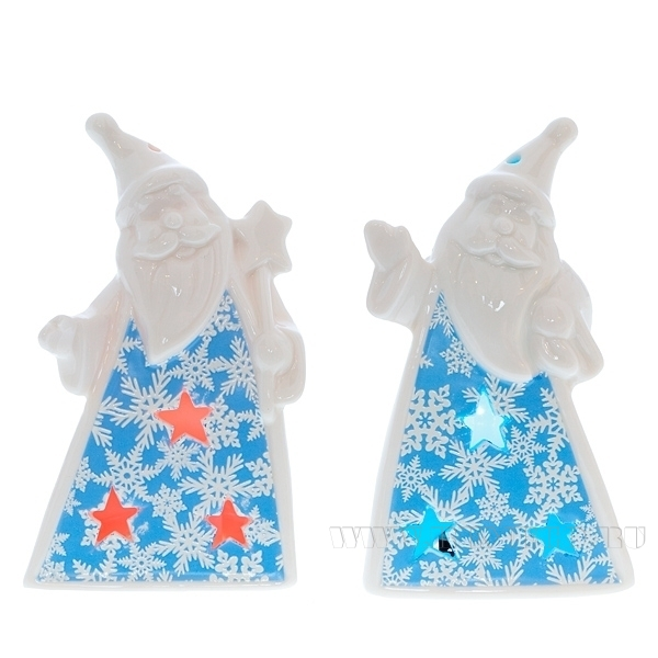 Фигурка декоративная со светодиодной подсветкой Дед Мороз, 12,5 см оптом