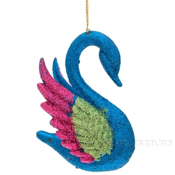 Новогоднее украшение Лебедь, 9 см оптом