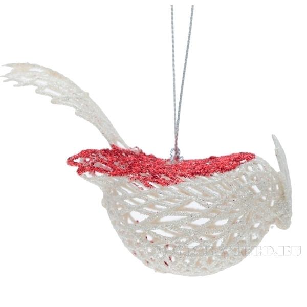 Новогоднее украшение Птичка, 9,5 см оптом