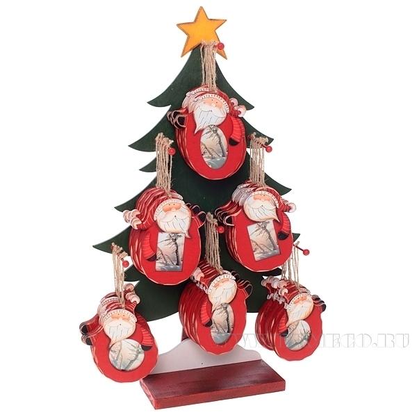 Новогоднее украшение-фоторамка Санта (без елки) оптом