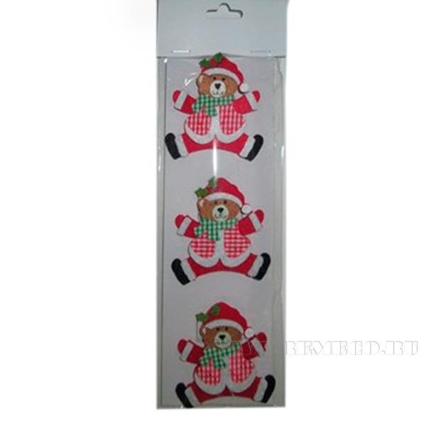 Набор из 3 новогодних украшений Медведи оптом