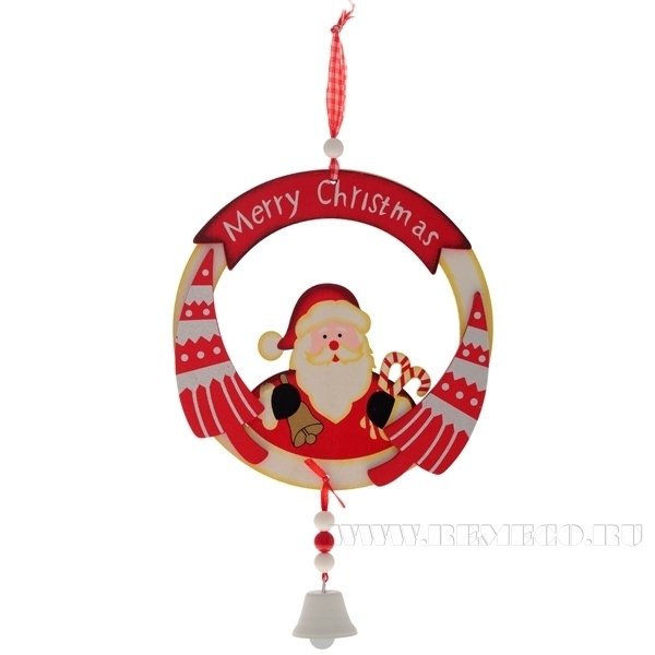 Новогоднее украшение Санта, Н 15 см оптом