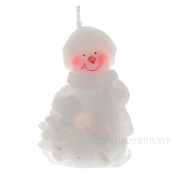 Свеча Снеговик, 5,6х4,1х8,1 см оптом
