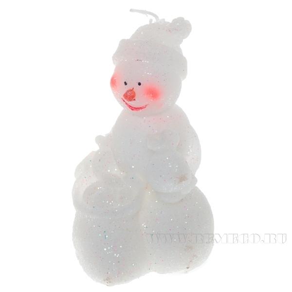 Свеча Снеговик, 6,2х6,3х11,2 см оптом