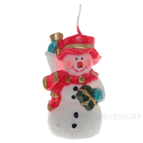 Свеча Снеговик, 4,8х3,8х7,3 см оптом