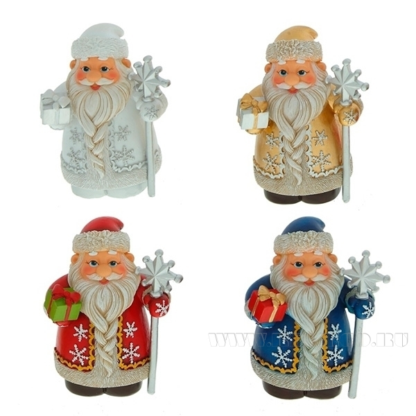 Фигурка декоративная Дед Мороз, 8 см оптом