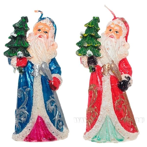 Свеча Дед Мороз, 11,5 см оптом