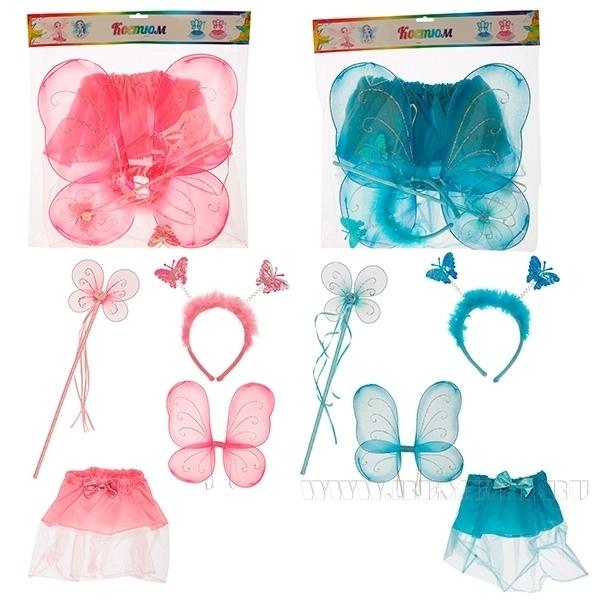Набор карнавальный Фея Составляющие набора: юбка для карнавалов (размер 32, 6-7 лет), игрушка: обо оптом
