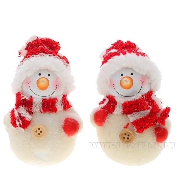 Фигурка декоративная Снеговик, 2 в., L6 W5 H9 см оптом
