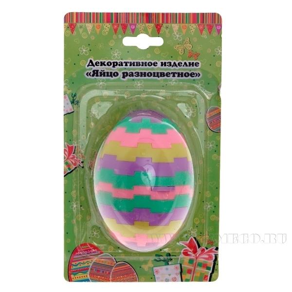 Декоративное изделие Яйцо разноцветное оптом