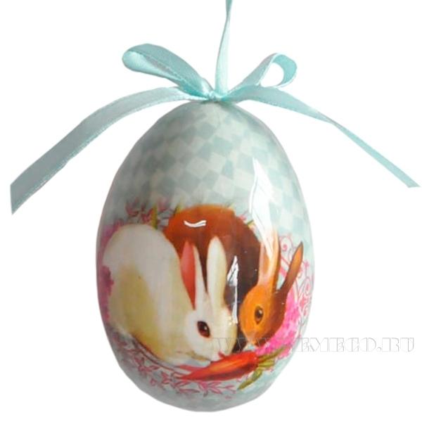 Пасхальное украшение Яйцо на ленте, 14х11 см оптом