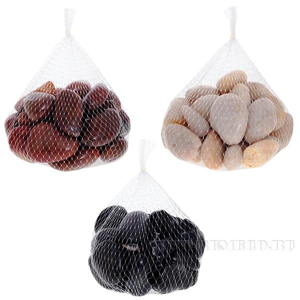 Камни натуральные, 1000 г, бежевый цвет оптом