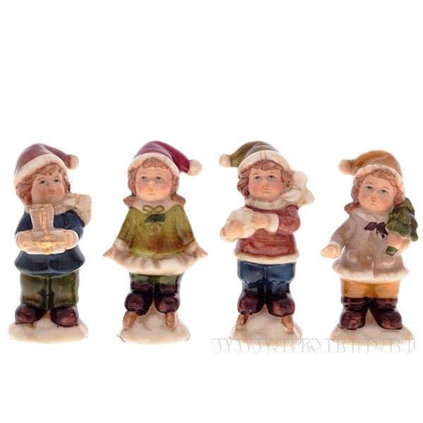 Фигурка декоративная Ребенок, L3,8 W3,7 H9 см, 4 в. оптом
