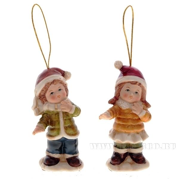 Новогоднее украшение Ребенок, L4,8 W4,2 H9,5 см, 2 в. оптом