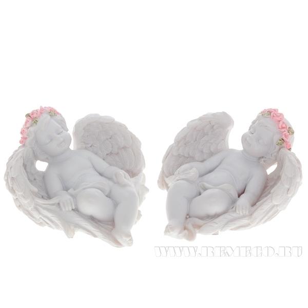 Фигурка декоративная Ангел. Нега, L6 W7 H3,8 см, 2 в. оптом