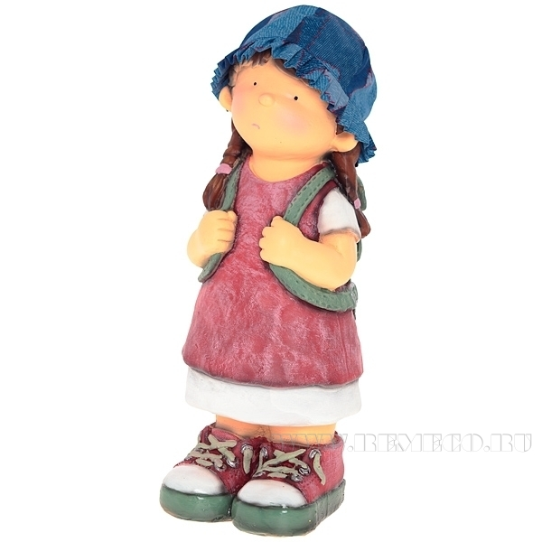 Фигура декоративная Девочка с рюкзаком Н42см. оптом