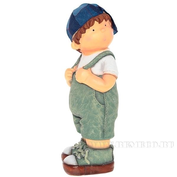 Фигура декоративная Мальчик L18W16H44 см оптом