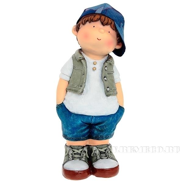 Фигура декоративная Мальчик руки в брюкиL17W15H42cm оптом