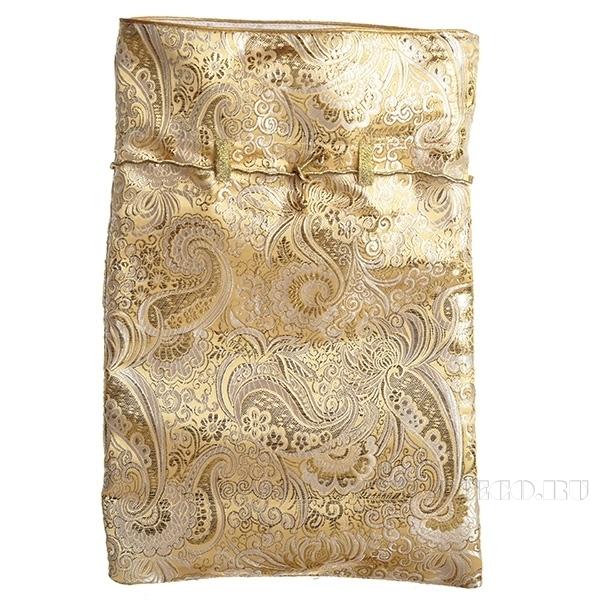 Мешок из парчи с атласной отделкой 35*24см (золотой) оптом
