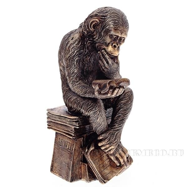 Фигурка декоративная Обезьяна. Гигант мысли,  L15.5 W13 H26 см оптом