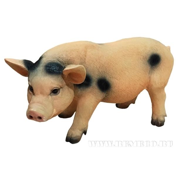 Фигура декоративная Свинья (с пятнами), L47 W14 H24 см оптом