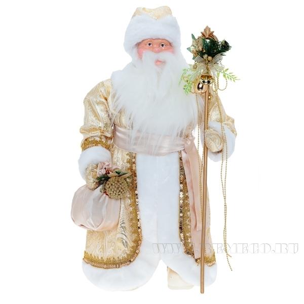 Дед Мороз,  60 см (золотая парча) оптом