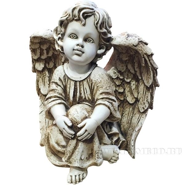 Фигура декоративная Ангел Н27см оптом