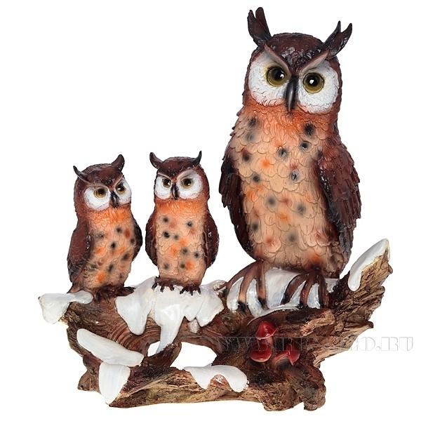 Фигура декоративная Семья филинов оптом