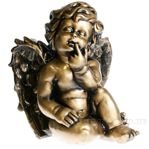 Фигура декоративная Ангел L23W21H27 см оптом