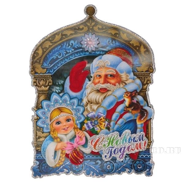 Декоративное изделие Новогоднее панно, 30х22 см оптом