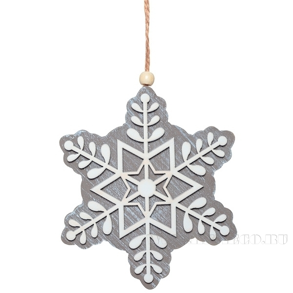 Новогоднее украшение Снежинка, 26,5 см оптом