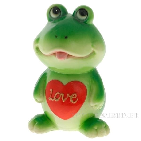 Копилка (Влюбленный лягушонок)L9W8H17см оптом