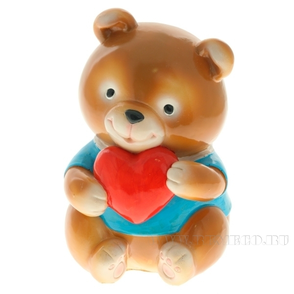 Копилка (Медвежонок с сердечком) L9W8H17см оптом