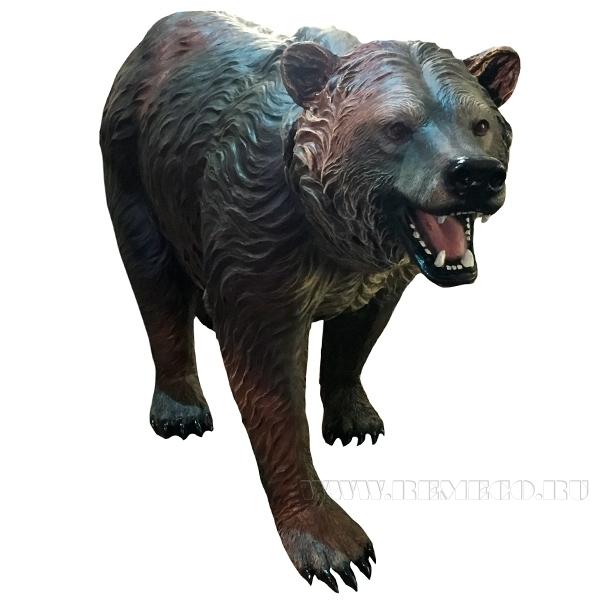 Фигура декоративная МедведьL90W30H60 оптом