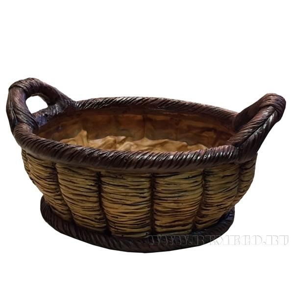 Кашпо декоративное Корзина овальная L36W26H17.5cm оптом