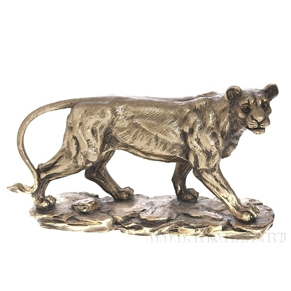 Фигура декоративная Львица (золото), L10W29.5H17 см оптом