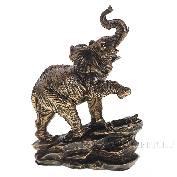 Фигура декоративная Слон L17W9H24 см) оптом