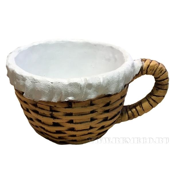 Кашпо декоративное ( Чашка плетенная (с салф.) L22W17H11,5 см) оптом