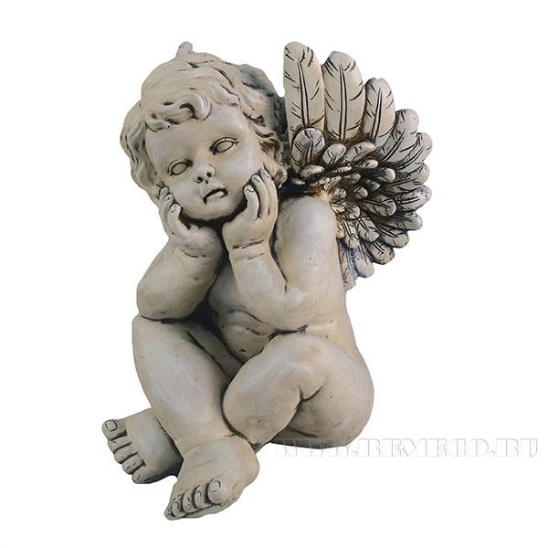 Фигура декоративная Ангел, L29 W31.5 H41 см оптом