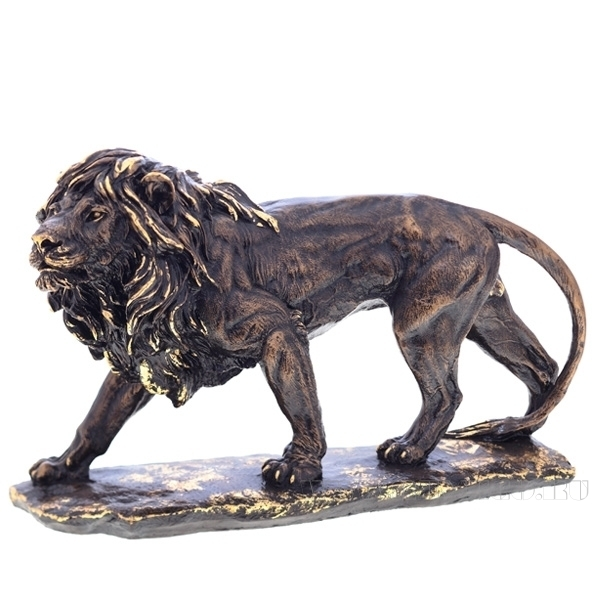 Фигурка декоративная Лев большой №2 (сусальное золото) оптом