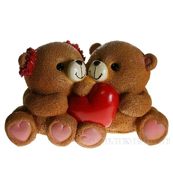 Копилка Влюбленные медвежата L25W14H14 см оптом