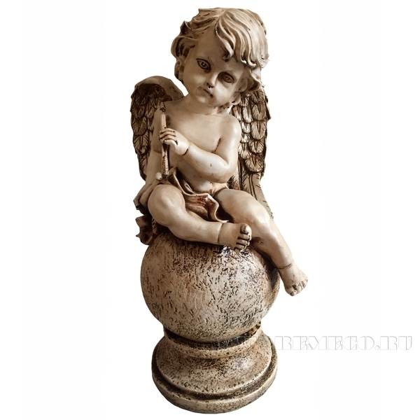 Фигура декоративная Ангел на шаре Н43 см. оптом