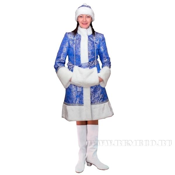 Новогодний костюм Снегурочка, синий оптом