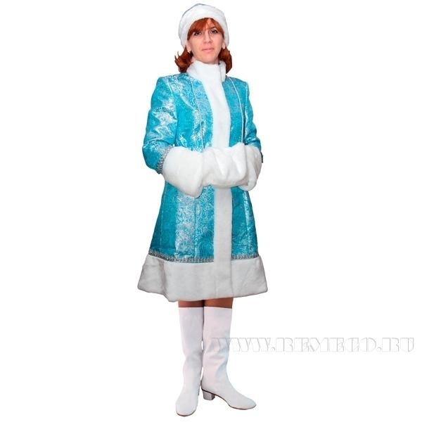 Новогодний костюм Снегурочка, бирюза оптом