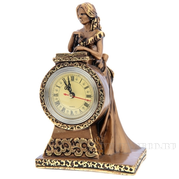 Композиция время Девушка(сусальное золото) L15 W11 Н25 см оптом