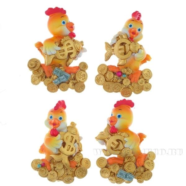 Магнит Цыпленок, L5,7 W2,2 H8,1 см, 4 в. оптом