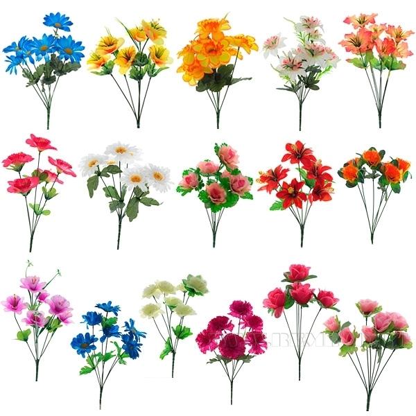 Цветок искусственный в ассортименте оптом